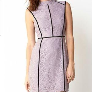 Forever 21 Cutout Back Lace Dress, Size L